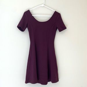Deep purple A-line dress